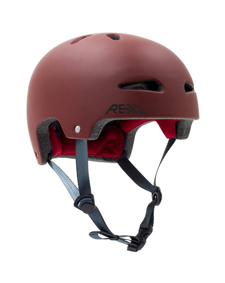 Rekd Protection Ultralite In-Mold Skateboard Helmet Red