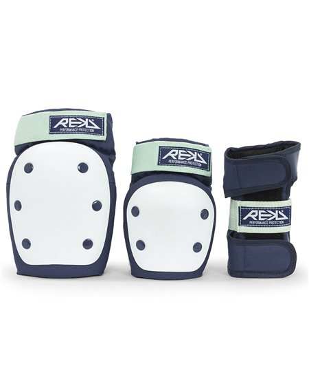 Rekd Protection Heavy Duty Skateboard Pad Set Blue/Mint