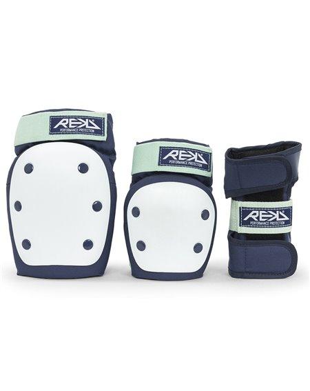 Rekd Protection Kit Proteção Skate Heavy Duty Blue/Mint