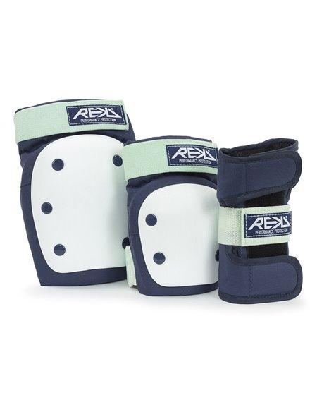 Rekd Protection Heavy Duty Skateboard Pad Set Blue/Mint