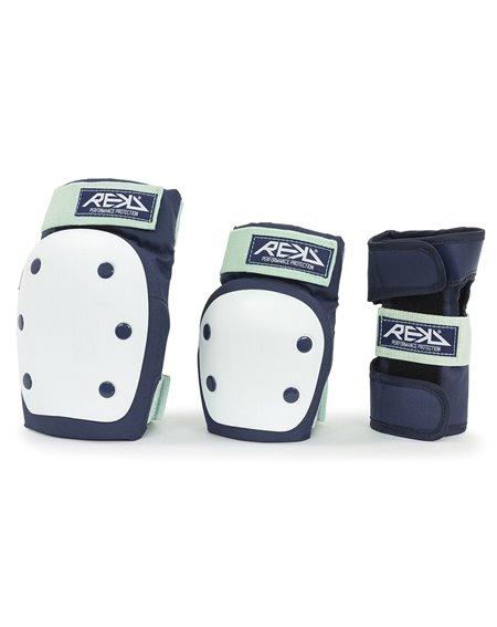 Rekd Protection Ensemble de Protection Skateboard Heavy Duty Blue/Mint