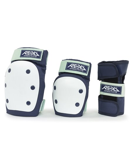 Rekd Protection Set Protezioni Skateboard Heavy Duty Blue/Mint