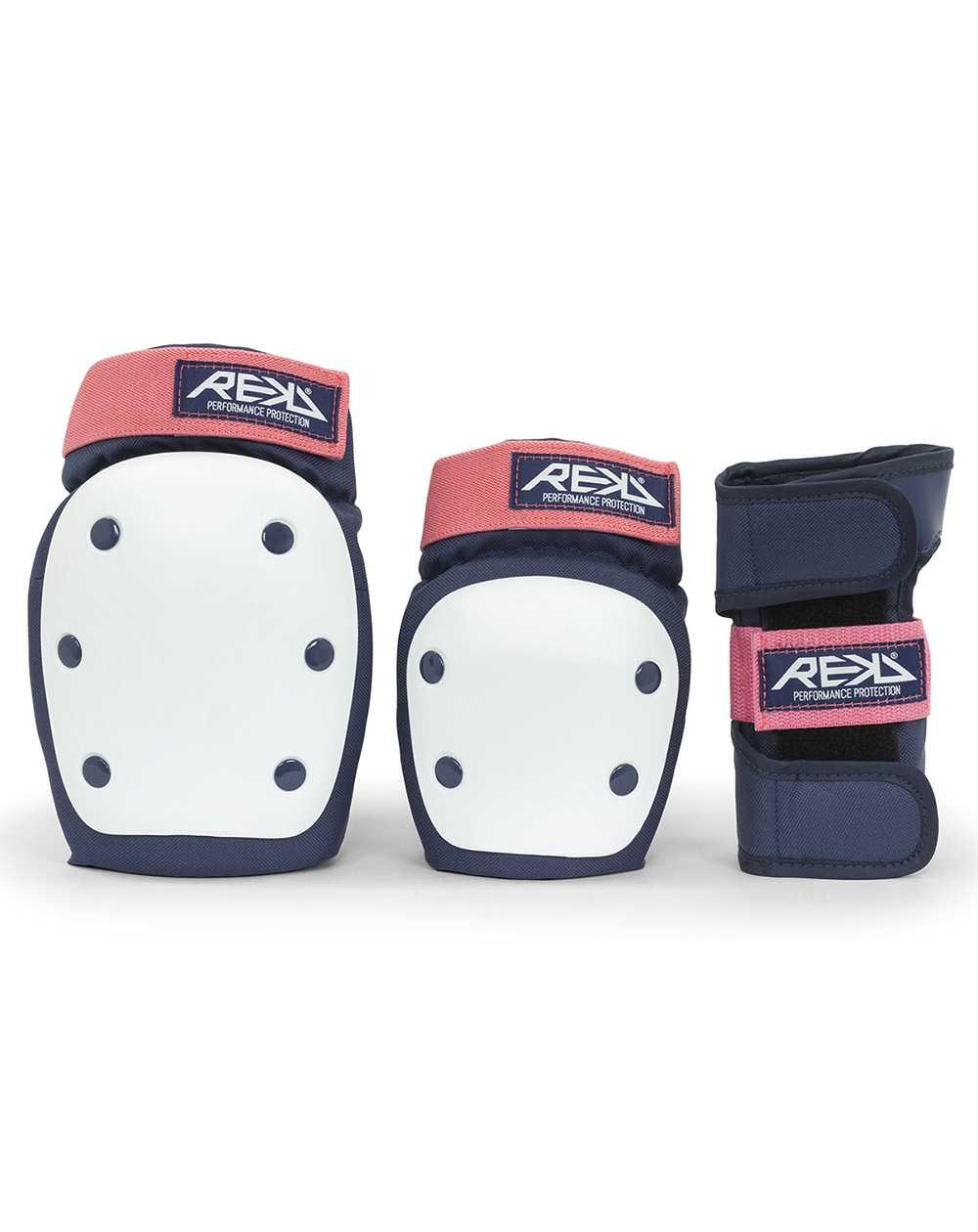 Rekd Protection Heavy Duty Skateboard Pad Set Blue/Pink
