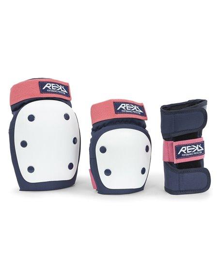 Rekd Protection Kit Proteção Skate Heavy Duty Blue/Pink