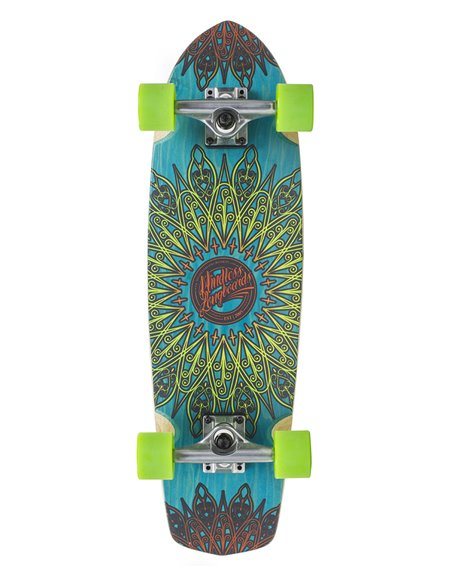 Mindless Mandala Skateboard Cruiser Blue
