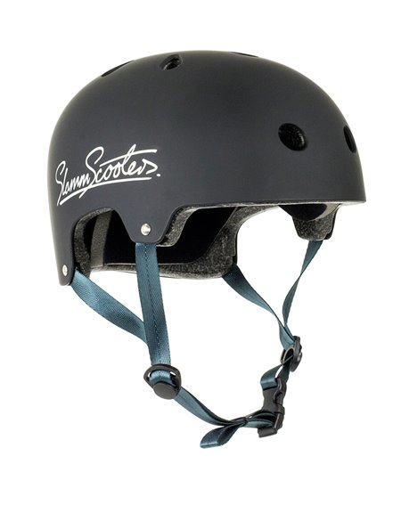 Slamm Scooters Casco Skateboard Logo Black