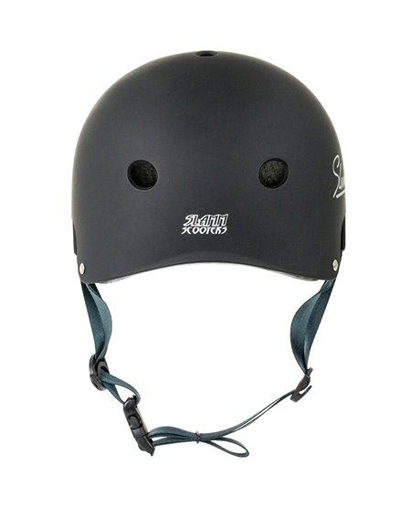 Slamm Scooters Logo Skateboard Helmet Black