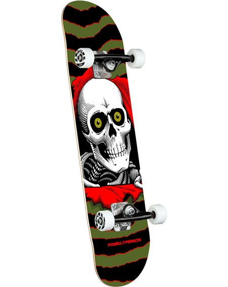 """Powell Peralta Ripper 7.00"""" Complete Skateboard Olive"""
