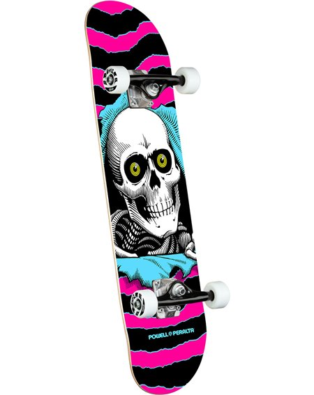 """Powell Peralta Ripper 7.75"""" Complete Skateboard Pink"""