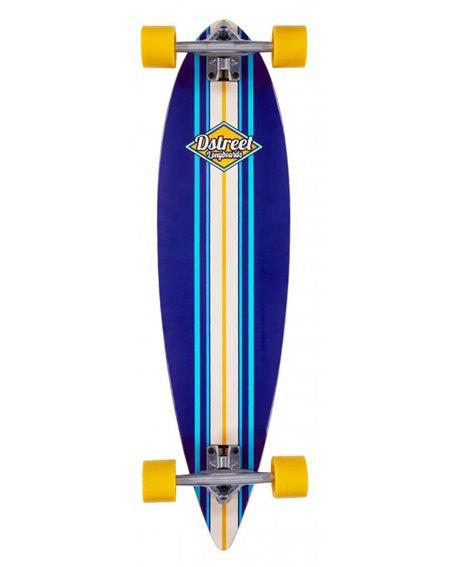 D-Street Longboard Pintail Ocean Blue