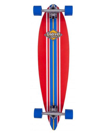 D-Street Pintail Ocean Longboard Red