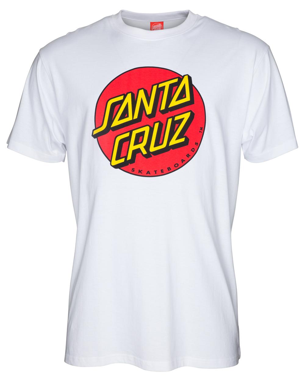 Santa Cruz Classic Dot T-Shirt Uomo White