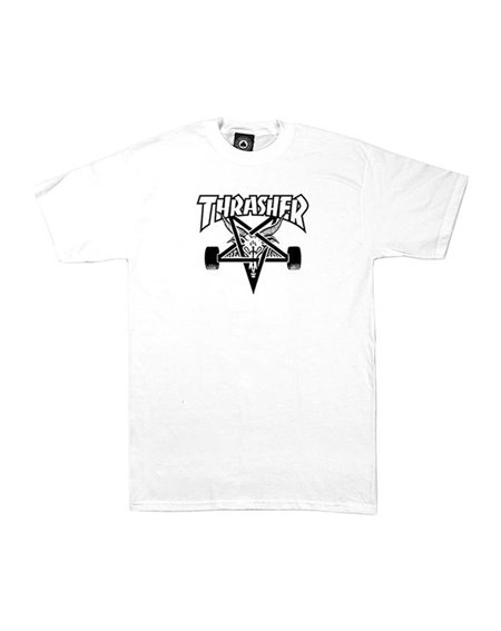 Thrasher Herren T-Shirt Skate Goat White
