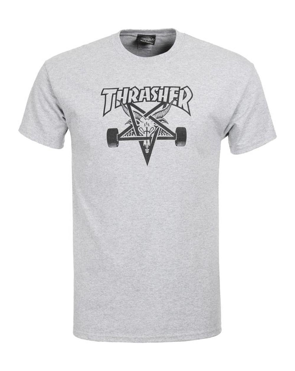 Thrasher Men's T-Shirt Skate Goat Grey