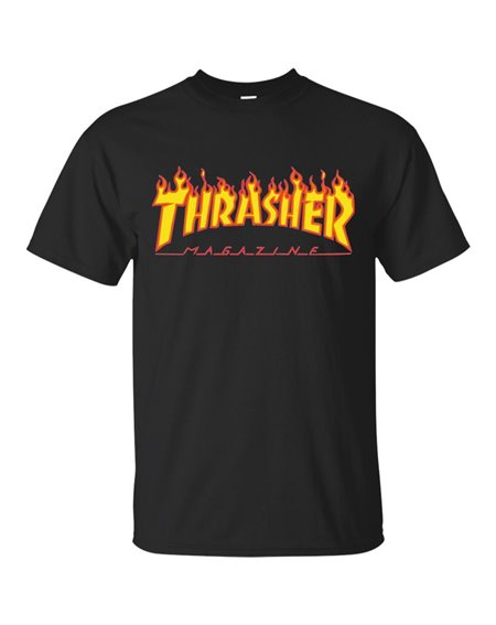 Thrasher Flame T-Shirt Uomo Black