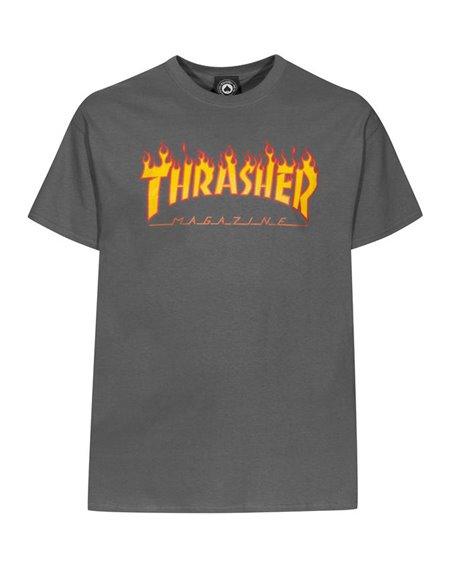 Thrasher Herren T-Shirt Flame Charcoal