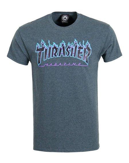 Thrasher Flame Camiseta para Hombre Dark Heather