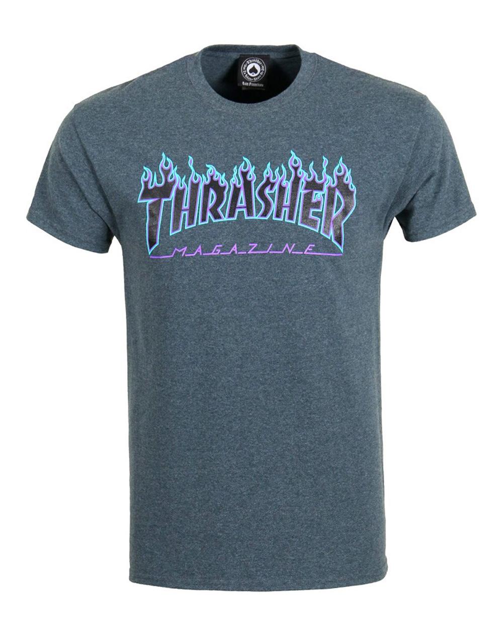 Thrasher Flame T-Shirt Homme Dark Heather
