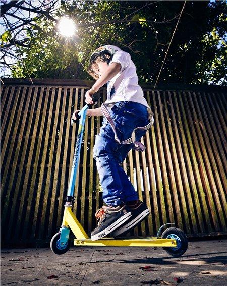 Street Surfing Monopattino Freestyle Trickster Bambino Blue/Yellow