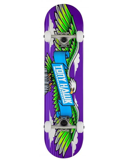 "Tony Hawk Wingspan 7.75"" Complete Skateboard Purple"