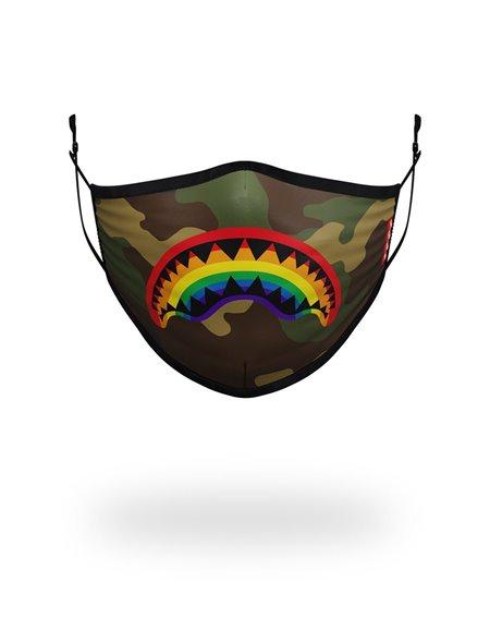 Sprayground Washable Fabric Face Mask Rainbow Shark