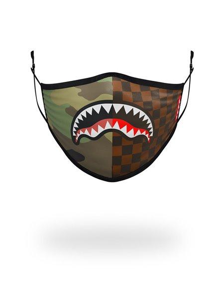 Sprayground Washable Fabric Face Mask Checks & Camo