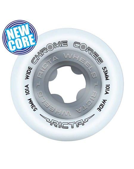 Ricta Rodas Skate Chrome Cores Wide 53mm 4 peças
