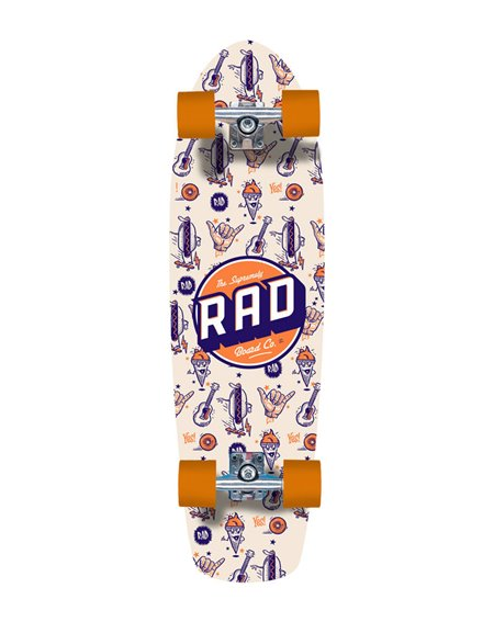 Rad Skateboard Cruiser Retro Roller