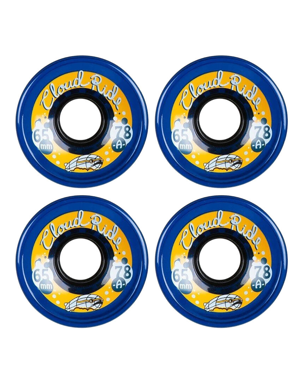 Cloud Ride Street 65mm Cruiser Wheels Midnight Blue