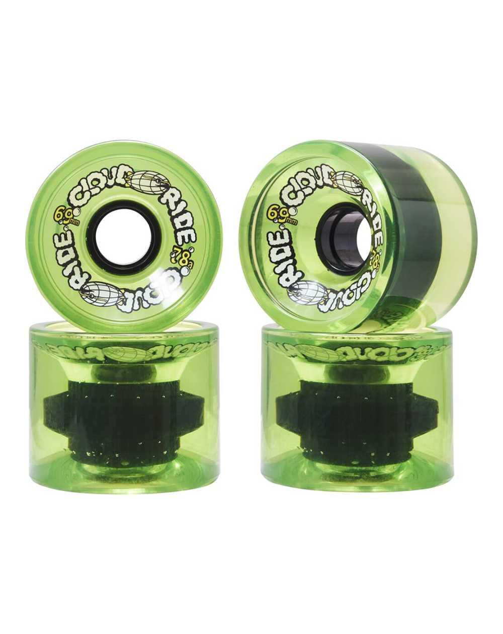 Cloud Ride 69mm Longboard Wheels Translucent Neon Green