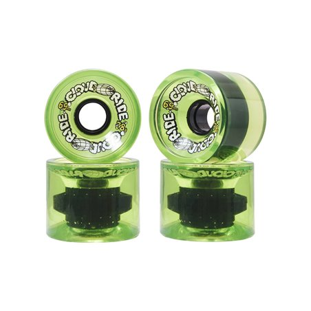 Cloud Ride Ruote Longboard 69mm Translucent Neon Green