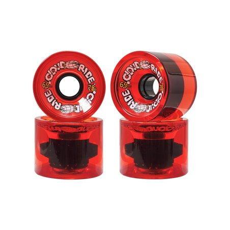 Cloud Ride Ruote Longboard 69mm Translucent Red