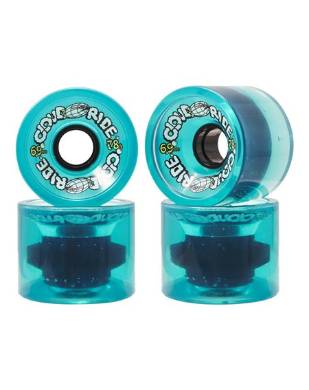 Cloud Ride Roues Longboard 69mm Clear Turquoise