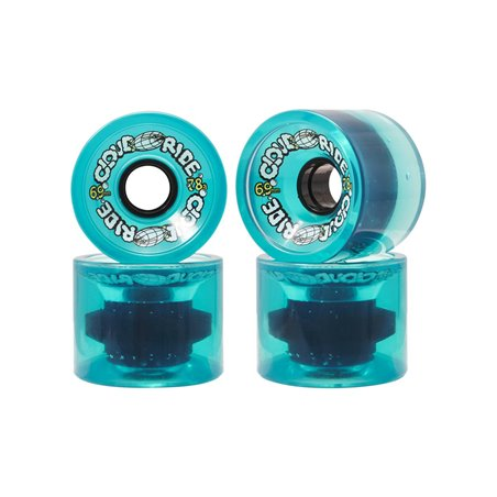 Cloud Ride Ruote Longboard 69mm Clear Turquoise