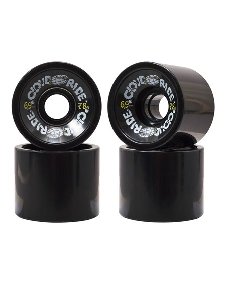 Cloud Ride 69mm Longboard Wheels Black