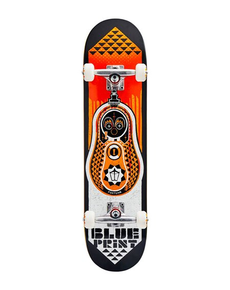 "Blueprint Skateboard Completo Babushka V2 7.75"" Orange"