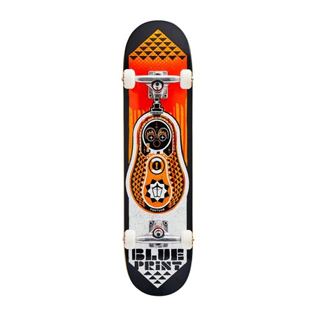 "Blueprint Babushka V2 7.75"" Complete Skateboard Orange"