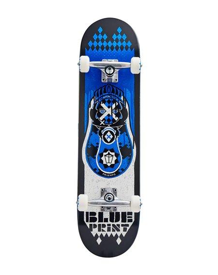 "Blueprint Babushka V2 8.00"" Complete Skateboard Blue"