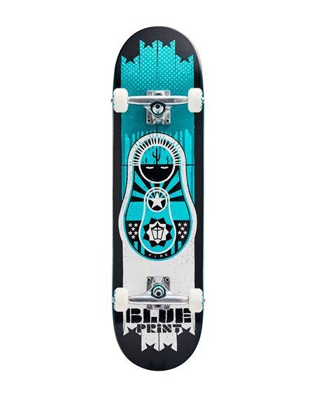 """Blueprint Babushka V2 8.25"""" Complete Skateboard Teal"""