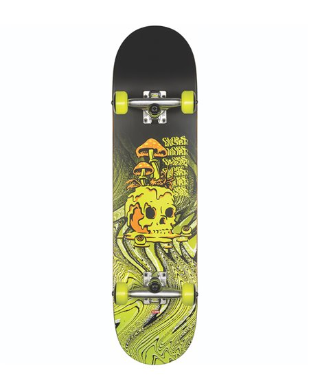 "Globe Skateboard Completo G1 Nature Walk 8.125"" Black/Toxic Yellow"