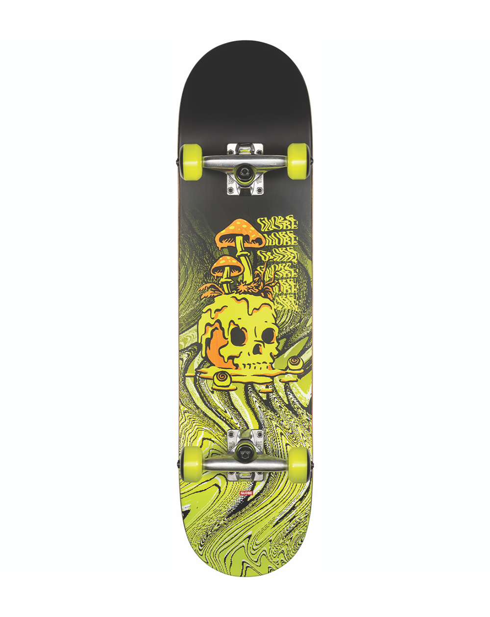 "Globe G1 Nature Walk 8.125"" Complete Skateboard Black/Toxic Yellow"