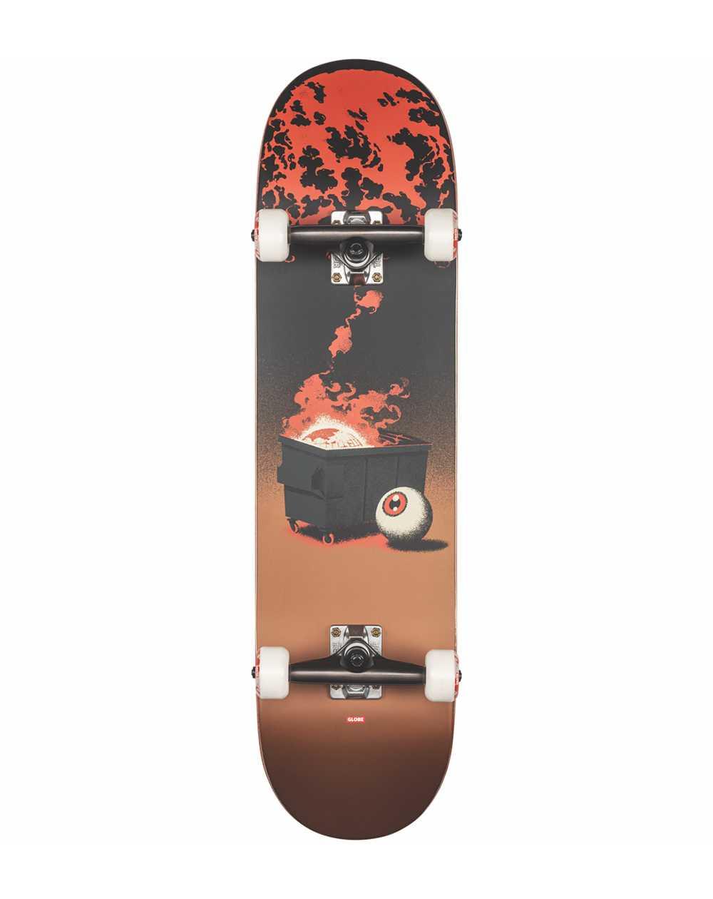 "Globe G2 On the Brink 8.25"" Complete Skateboard Dumpster Fire"