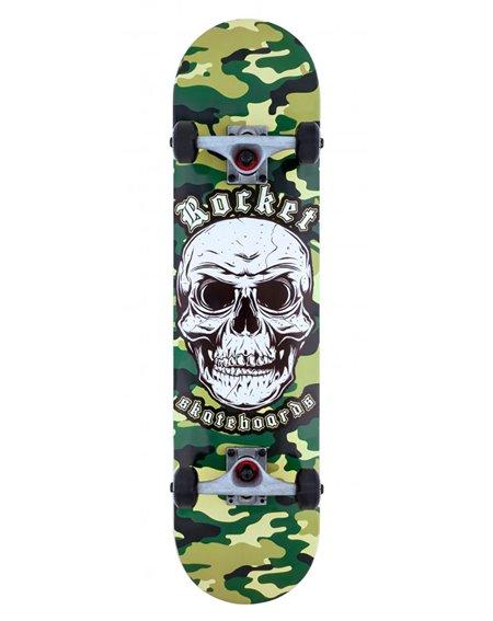 "Rocket Combat Skull 7.75"" Complete Skateboard"