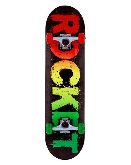"Rocket Skateboard Rasta Fade 8.00"""