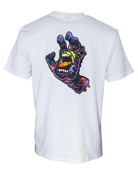Santa Cruz Hand Splatter Camiseta para Homem White
