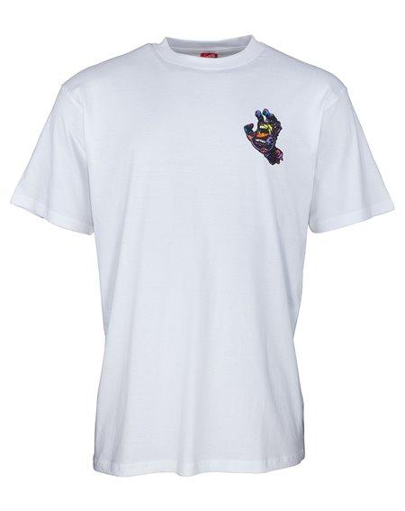 Santa Cruz Hand Splatter T-Shirt Uomo White