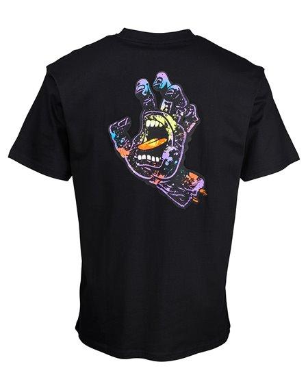 Santa Cruz Hand Splatter T-Shirt Uomo Black