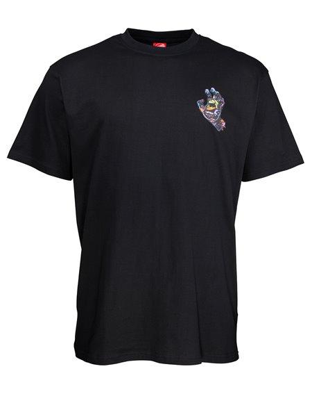 Santa Cruz Hand Splatter Camiseta para Homem Black