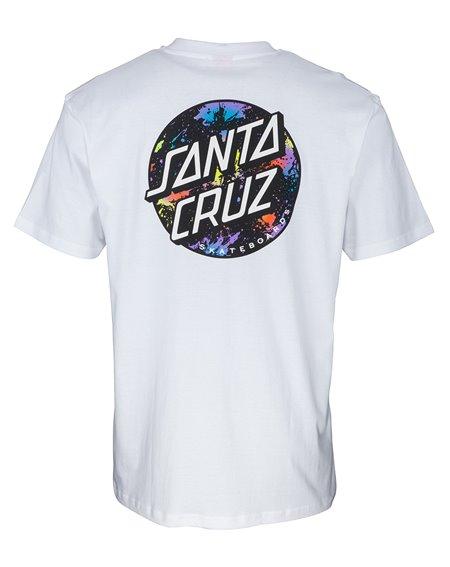 Santa Cruz Dot Splatter Camiseta para Homem White
