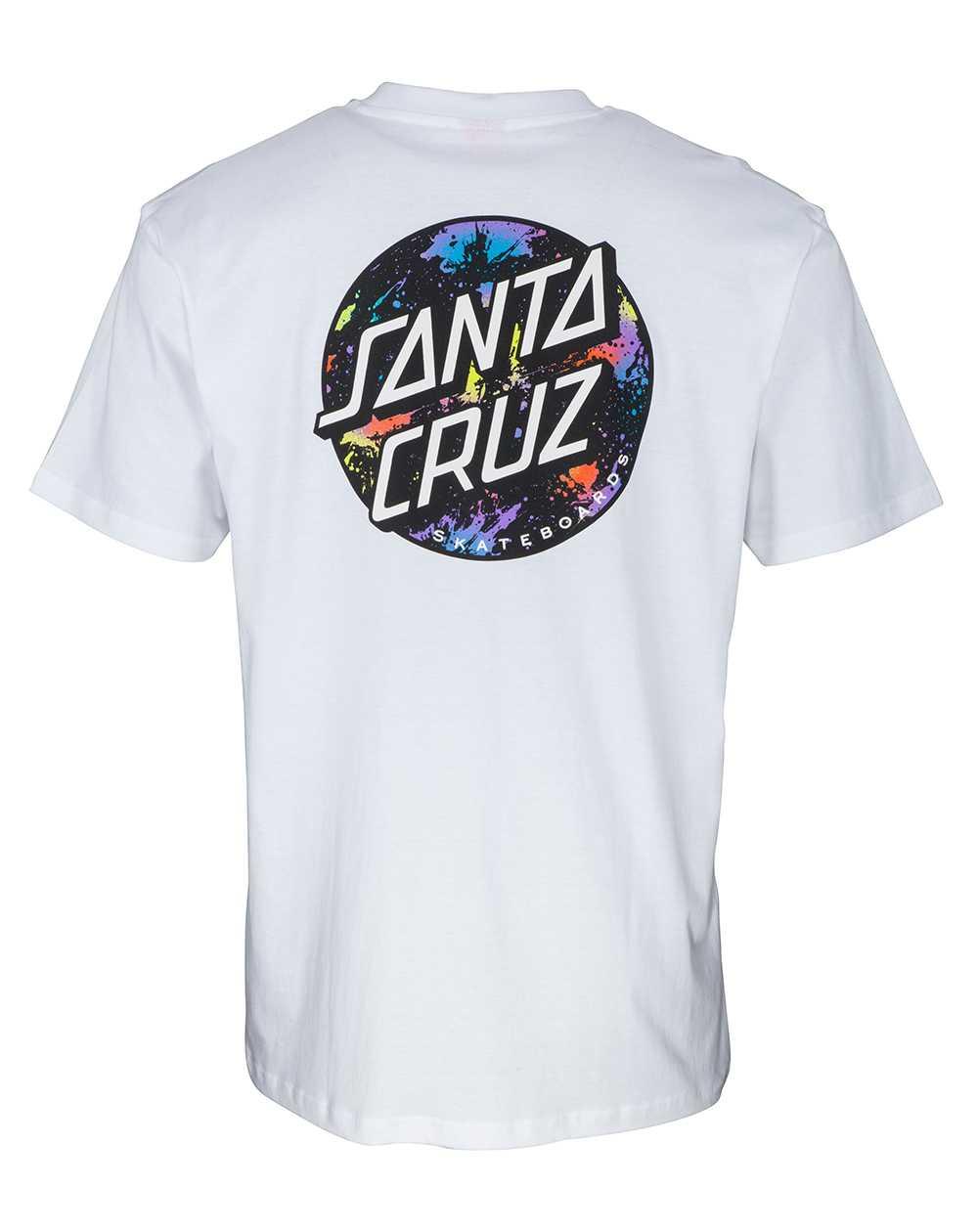 Santa Cruz Dot Splatter T-Shirt Homme White